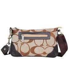 Coach Swingpack Monogram Small Khaki Crossbody Bags UP3117
