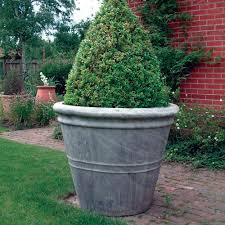giant stone flower plant pot vase large garden planter
