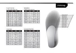 Cycling Shoe Size Chart Size Charts Flr