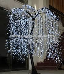 New arrival large outdoor white artificial LED lighted christmas weeping willow  tree