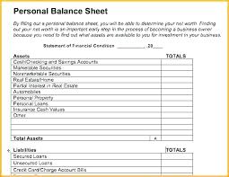 Personal Finance Excel Personal Finance Balance Sheet Template Net Worth Worksheet