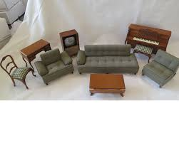 Set Furniture Living Room I Love Lucy Collectible Miniature Living Room Sofa Chair Piano Set