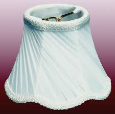 scallop twist pleated chandelier shade cream white 5 w