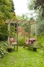garden photo frames. 4 Seater Wooden Garden Arbour Pagoda - Trellis Frame, 2 Benches And Photo Frames F