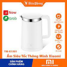 Ấm đun nước Siêu Tốc Thông Minh XIAOMI Electric Kettle YM-K1501 chính hãng  điện an toàn cho gia đình đẹp bền rẻ xịn