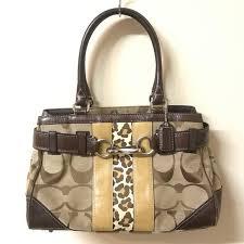 Coach Hamptons Signature Stripe F13073 Handbag