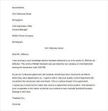 Complain Business Letter Formal Complaints Letter Business Letter Format Example