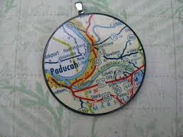 Paducah Ky 1960s Map Pendant 9 Paducah Kentucky My