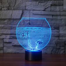 2018 Fish Tank Touch Table Lamp Changing Desk Lamp 3d Novelty Led Night  Lights 3d Led Light Drop Ship Room From Kirke, $23.51 | Dhgate.Com