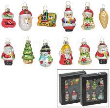 Christbaumschmuck Glas Anhänger Weihnachtsfiguren 6 Tlg Je 5 Cm 2er Set Sort Matches21