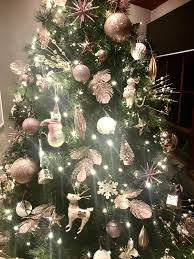 Kmart Christmas Lights Pink Rose Gold Gold And White Christmas Tree Ornaments