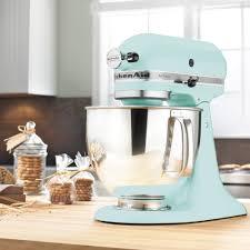 kitchenaid 5ksm150psbac artisan stand mixer ice blue kitchen designs