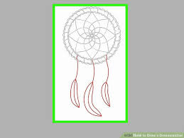 How To Draw A Dream Catcher How to Draw a Dreamcatcher 100 Steps with Pictures wikiHow 13