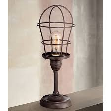Franklin Iron Works Industrial Wire Cage 17 14 Accent Lamp