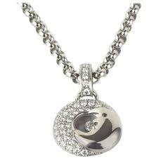 chopard happy diamonds moon white gold pendant for