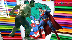Peppa pig vs hulk vs captain america vs iron. Superman Vs Hulk Coloring Page For Kids Superman Vs Hulk Fight For Preschoolers Youtube