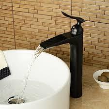 bronze bathroom fixtures. Heightening Waterfall Oil-rubbed Bronze Bathroom Sink Faucet Fixtures C