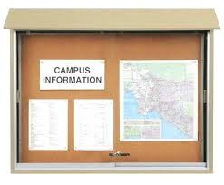 enclosed bulletin board for outdoor use united visual products tack ghent enclosed outdoor bulletin board