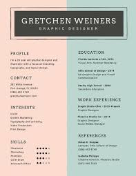 Graphic Resume Templates Impressive Customize 28 Resume Templates Online Canva