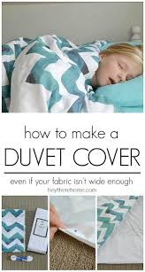 awesome step by step tutorial to make your own duvet cover even if your