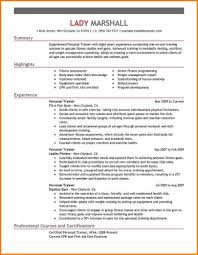 Personal Trainer Resume Examples Personal Trainer Resume Sample And Complete Guide 100 Examples 78