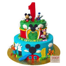 2299 2 Tier Mickey Mouse Clubhouse 1st Birthday Abc Cake Shop