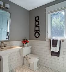 matte white subway tile walls bathroom rustic with glass subway tile with black grout