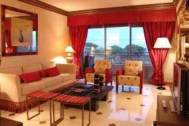 Orange Curtains For Living Room Living Room Living Room Decor Ideas In Red And Beige Theme With