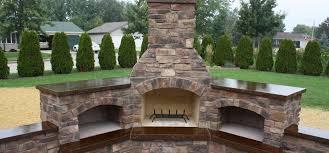 outdoor fireplaces mchugh s decorative concrete patios driveways walkways garageore
