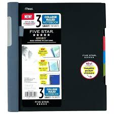Five Star Graph Paper Notebooks Five Star Notebook 3 Subject Count
