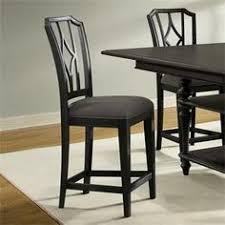 laurel foundry modern farmhouse kenwood upholstered diamond back counter height side chair set of finish ebonized acacia