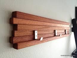 contemporary coat racks wood rack 3 hook key hat minimalist modern wall  hanging zoom