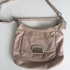 COACH Kristin crossbody hobo bag - Pink leather