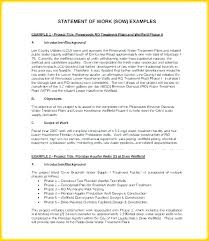 Simple Statement Of Work Template Construction Statement Of Work Template