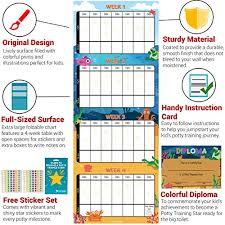 Potty Training Chart Reward Sticker Chart Marks Behavior Progress Motivational Toilet Training For Toddlers And Children Great For Boys And
