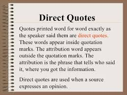 Direct Quote Simple Direct Quote Awesome Use Quotation Marks To Set Off A Direct
