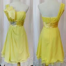 short tail rom dress yellow one shoulder chiffon msia selangor kl damansara bangsar mont kiara ttdi