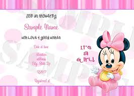 Minnie Mouse Blank Invitation Template Baby Minnie Mouse Baby Shower Invitations Baby Minnie Mouse Shower
