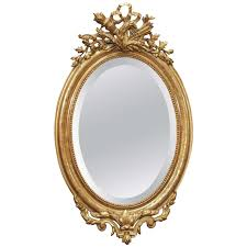 Gallery Antique Gold Oval Mirror longfabu