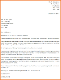 experience letter for sales manager fields sales manager cover letter