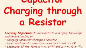 capacitors 6 charging through a resistor