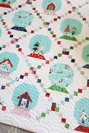 Snow Globe and Pixie Noel Mini Quilt With The Easiest Snowball ... & Pixie Noel Winter wonderland holiday quilt christmas Adamdwight.com