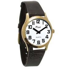 mens talking watches archives blindsight delaware leather band large print wristwatch