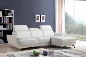 modern white sectional. Divani Casa Sterling Modern White Eco-Leather Sectional Sofa E