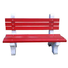 red and white rcc outdoor garden benches