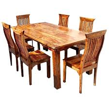 rustic wood dining table set modern solid chair wooden all room57 wood