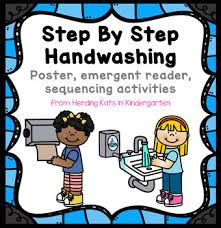 Washing Chart Hand Washing Procedures Reader Poster And Sequencing Pocket Chart