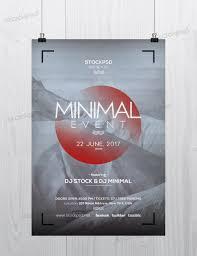 minimal event psd flyer template net minimal flyer is a mini stic flyer template
