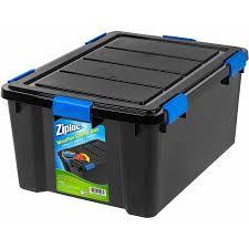 plastic storage bins. ziploc 60 qt. weathershield storage box, black plastic bins t