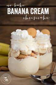 no bake banana cream cheesecake a